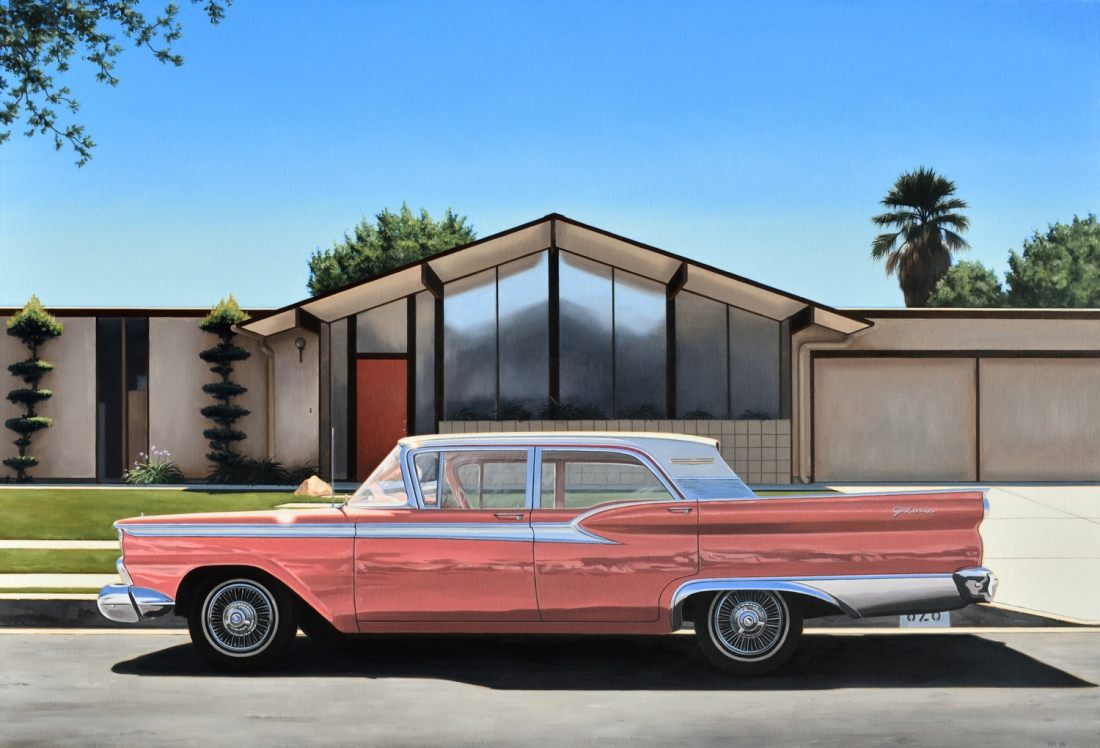 Danny Heller's Stylish Paintings Of Palm Springs Could Be Mistaken For Photographs