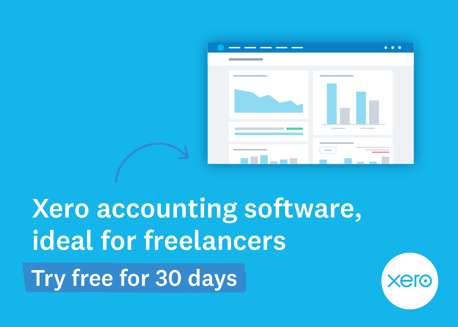 Xero accounting software, ideal for freelancers. Try free for 30 days