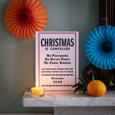 Christmas is Cancelled, a humorous print by Lydia Leith