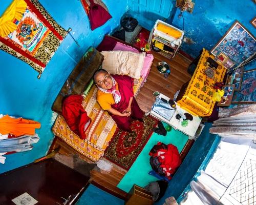 Pema, Buddhism student in Katmandu, Nepal - room #385