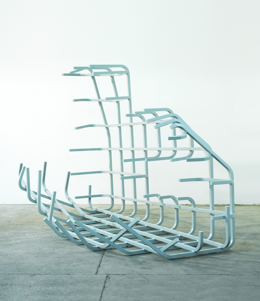 Being-In-Itself, 2015, Zinc & powder coated steel, Unique, 185 x 279 x 142 cm