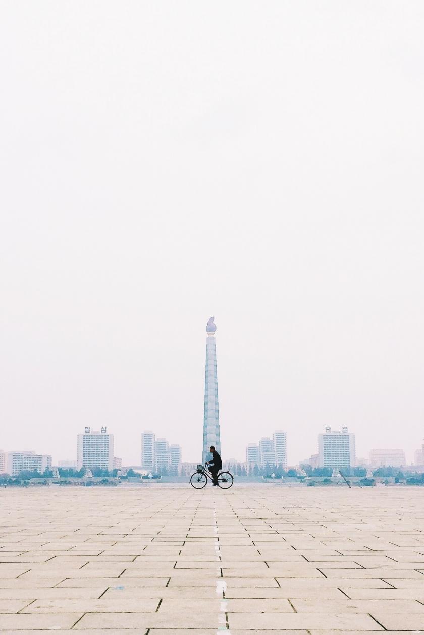 The lone biker of Pyongyang