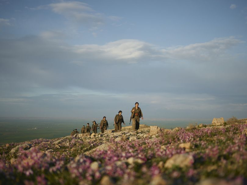 Kurdistan Workers' Party (PKK) guerrillas on an armed patrol in the countryside of Makhmur. Makhmur, Erbil Governorate, Iraq, March 3, 2015. From [We Came From Fire](https://amzn.to/2L9l8Vm) by Joey L. – published by powerHouse Books