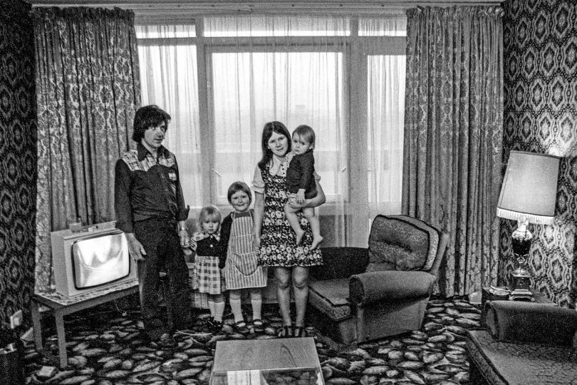A family living at the Nightingale Estate, 1974 © Neil Martinson