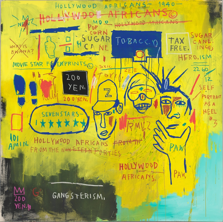 Jean-Michel Basquiat Hollywood Africans, 1983 Courtesy Whitney Museum of American Art, New York. © The Estate of Jean-Michel Basquiat/ Artists Rights Society (ARS), New York/ ADAGP, Paris. Licensed by Artestar, New York.