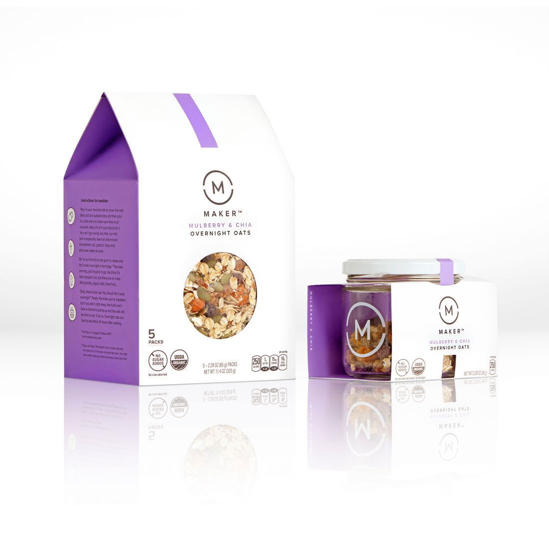 Maker Oats brand packaging by PepsiCo Design and Innovation