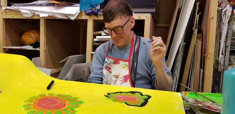 Paul Wright at work