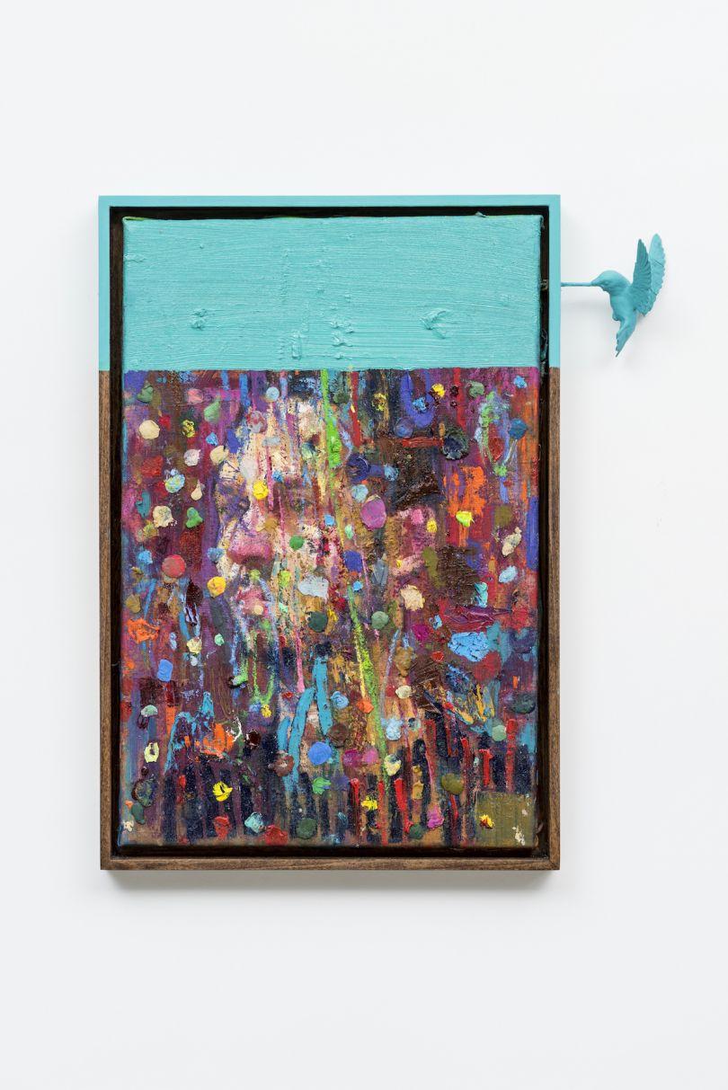 Vigil (2017), Oil on Linen, Handpanted Ash Frame, 48x33cm
