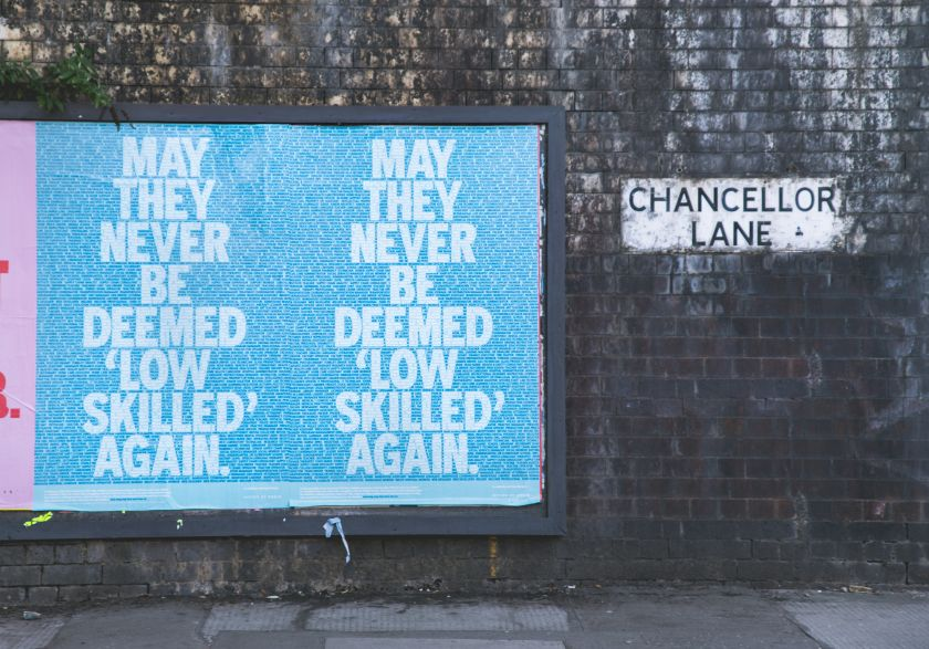 Craig Oldham releases for sale his typographic 'Key Workers' print to raise money for Manchester food initiative