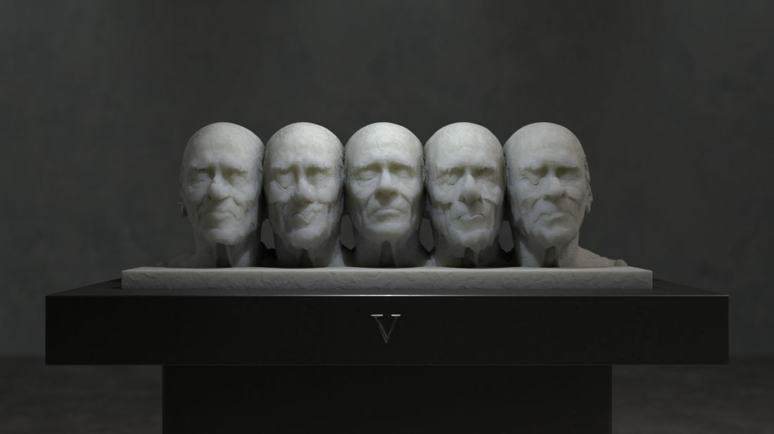 Isolation and peer pressure, in the form of 'living sculptures'
