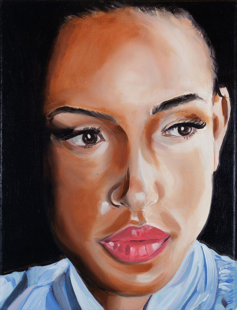 Portrait of Mumbi O'Brian, oil on linen, 2020 © Paul Gervais