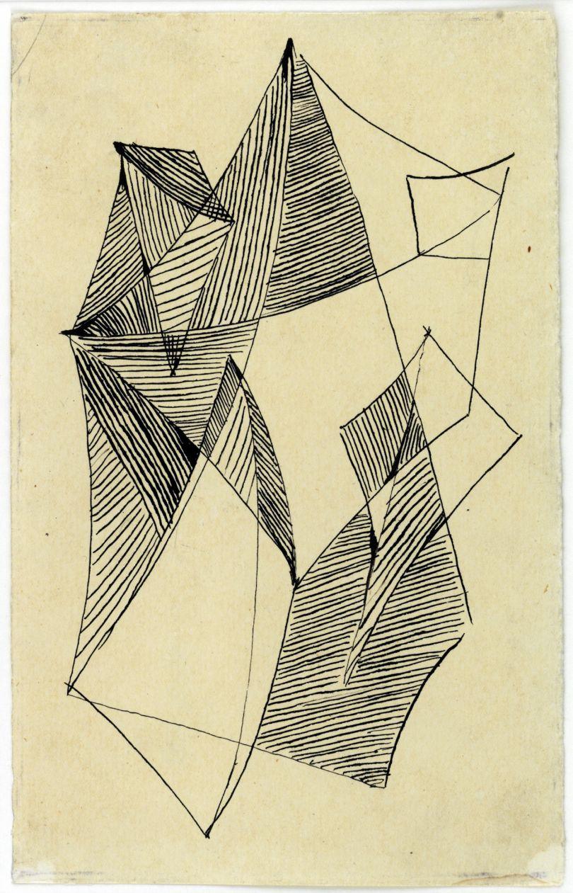 © Liubov Popova – Untitled, 1918. Ink on paper