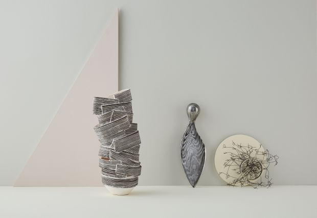 Sculpture by Bronwen Grieves, Sycamore Knife by Leszek Sikon, Explosion by Emma Strathdee. Photography by Yeshen Venema