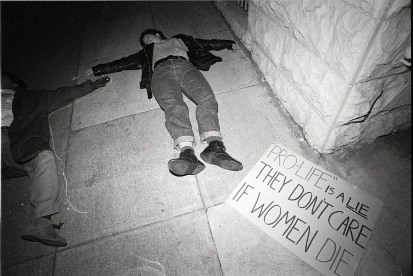 Phyllis Christopher, untitled Image from Women's Actup Contingent Protest at First Baptist Church, San Francisco, 1990