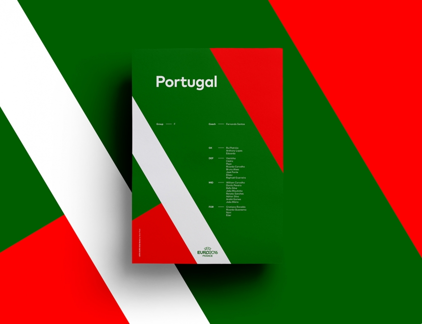 Incredible Design Ideas For Self Confessed Introverts: UEFA EURO 2016 Poster Series Translates National Colours