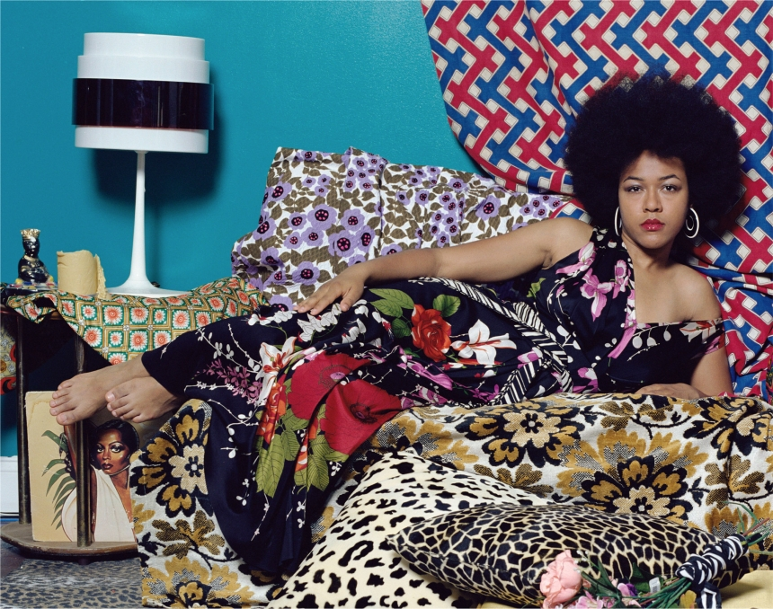 Tell Me What You're Thinking, 2016. © Mickalene Thomas. Courtesy of Yancey Richardson Gallery