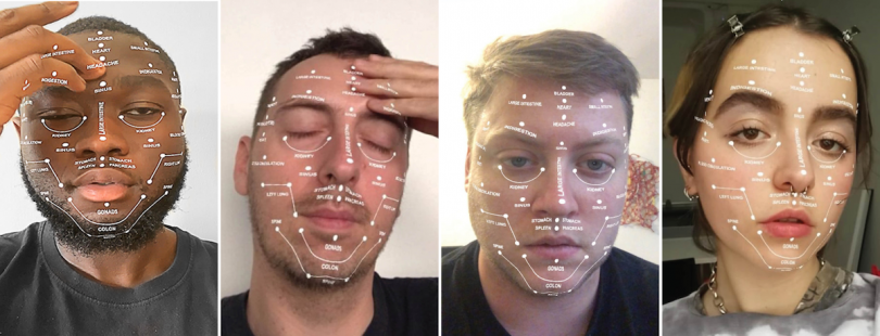 Pressure Points – AR face filter with self-help body healing points