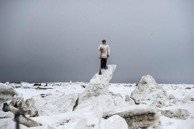 Whale hunter, Point Hope, Alaska, May 2018 ©Kadir van Lohuizen-NOOR for Fondation Carmignac
