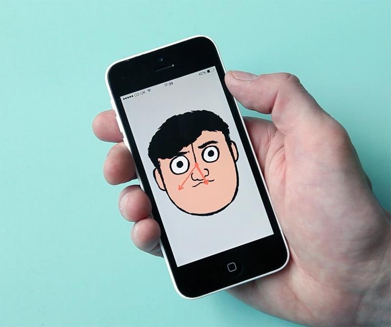 """Jullien's first app """"Jean Jullien's Clock Face""""."""
