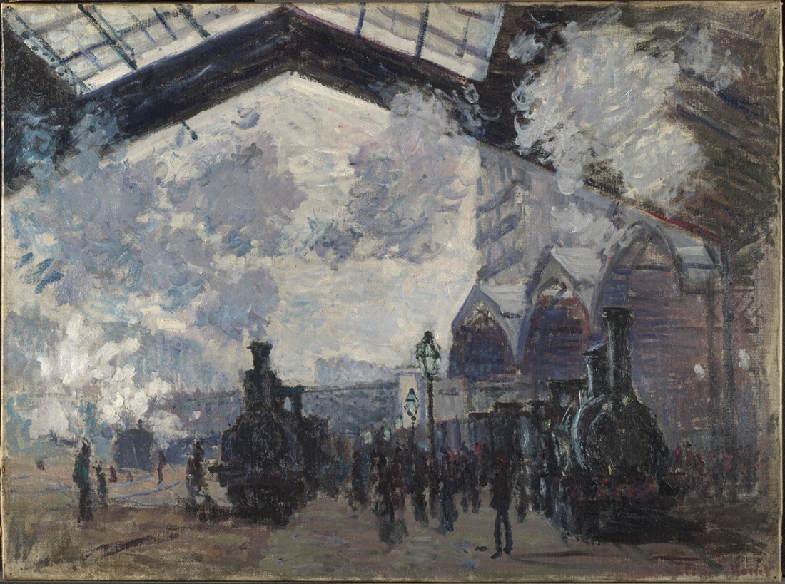 Claude Monet The Saint-Lazare Railway Station (La Gare Saint-Lazare), 1877 Oil on canvas 54.3 x 73.6 cm © The National Gallery, London