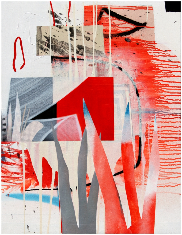 Fiona Ackerman, Fire Lake (2017), Oil on Canvas, 86x66cm