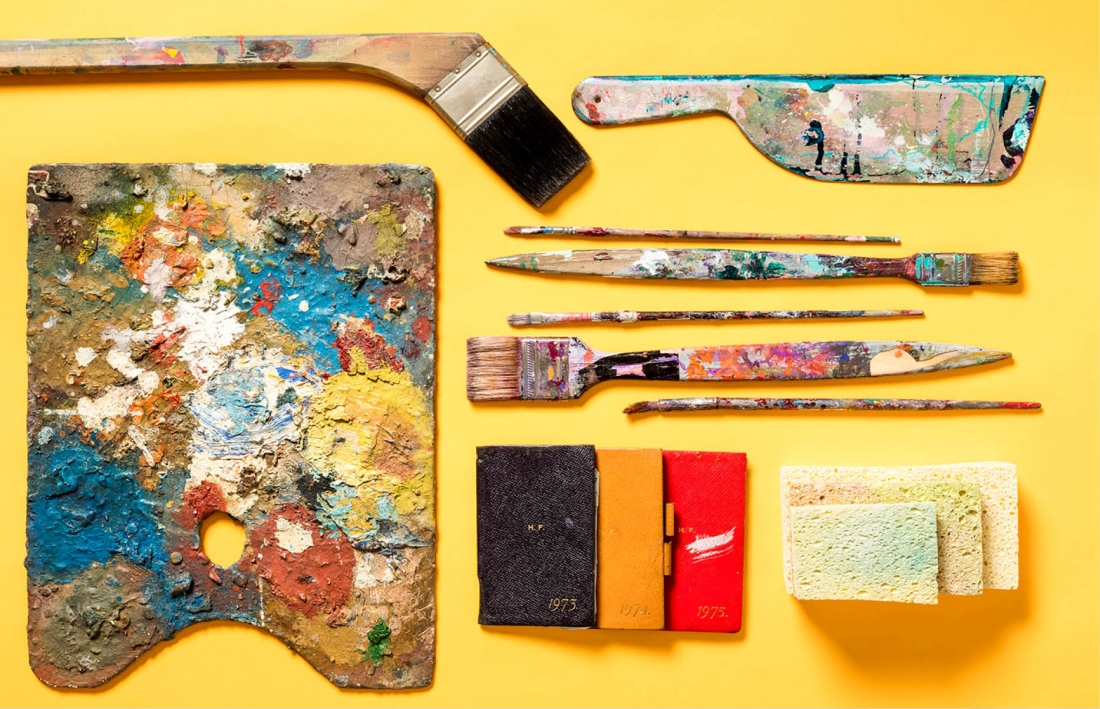 Helen Frankenthaler's studio and archival materials. Helen Frankenthaler Foundation Archives, New York. © 2016 Helen Frankenthaler Foundation, Inc