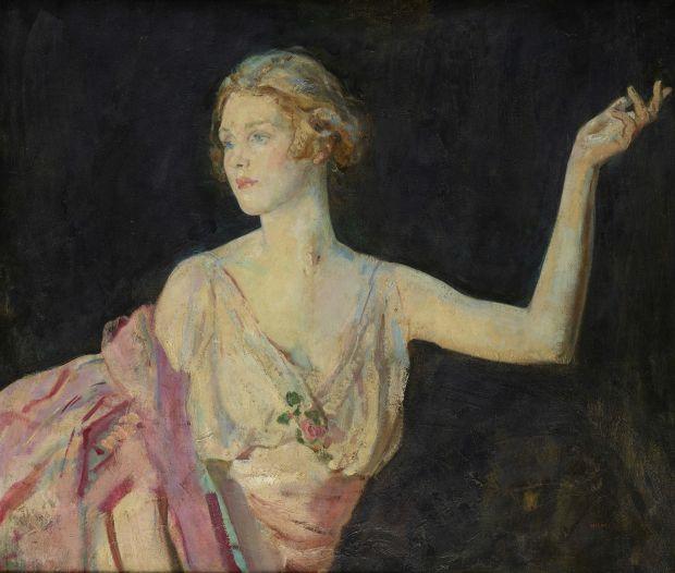 Portrait of Lady Diana Cooper (née Manners), 1916 – Ambrose McEvoy (1877-1927). Copyright Philip Mould & Company