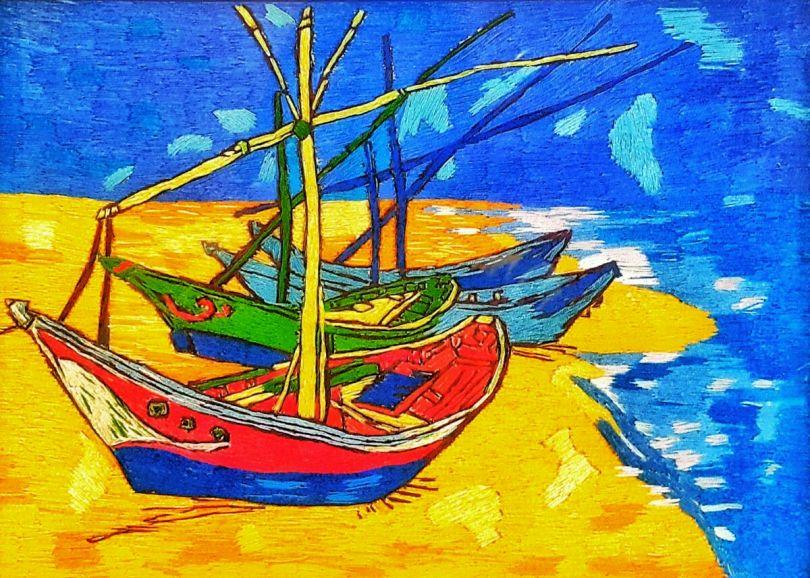Fishing Boats on the Beach at Les Saintes-Maries-de-la-Mer - Vincent van Gogh