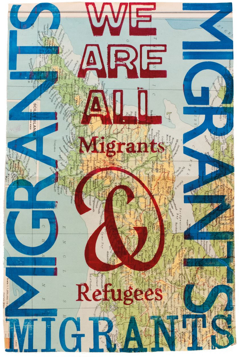 We Are All Migrants and Refugees © Dennis Gould