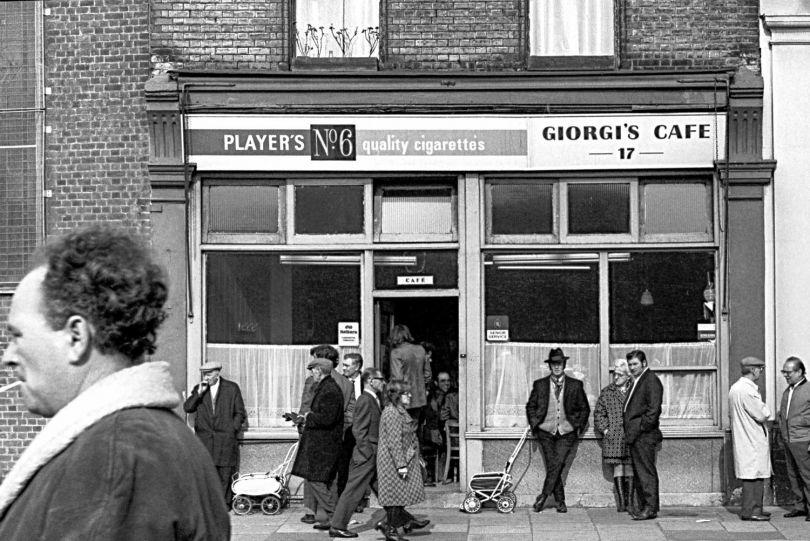 Giorgi's Cafe, Bethnal Green Road, 1971 © Neil Martinson