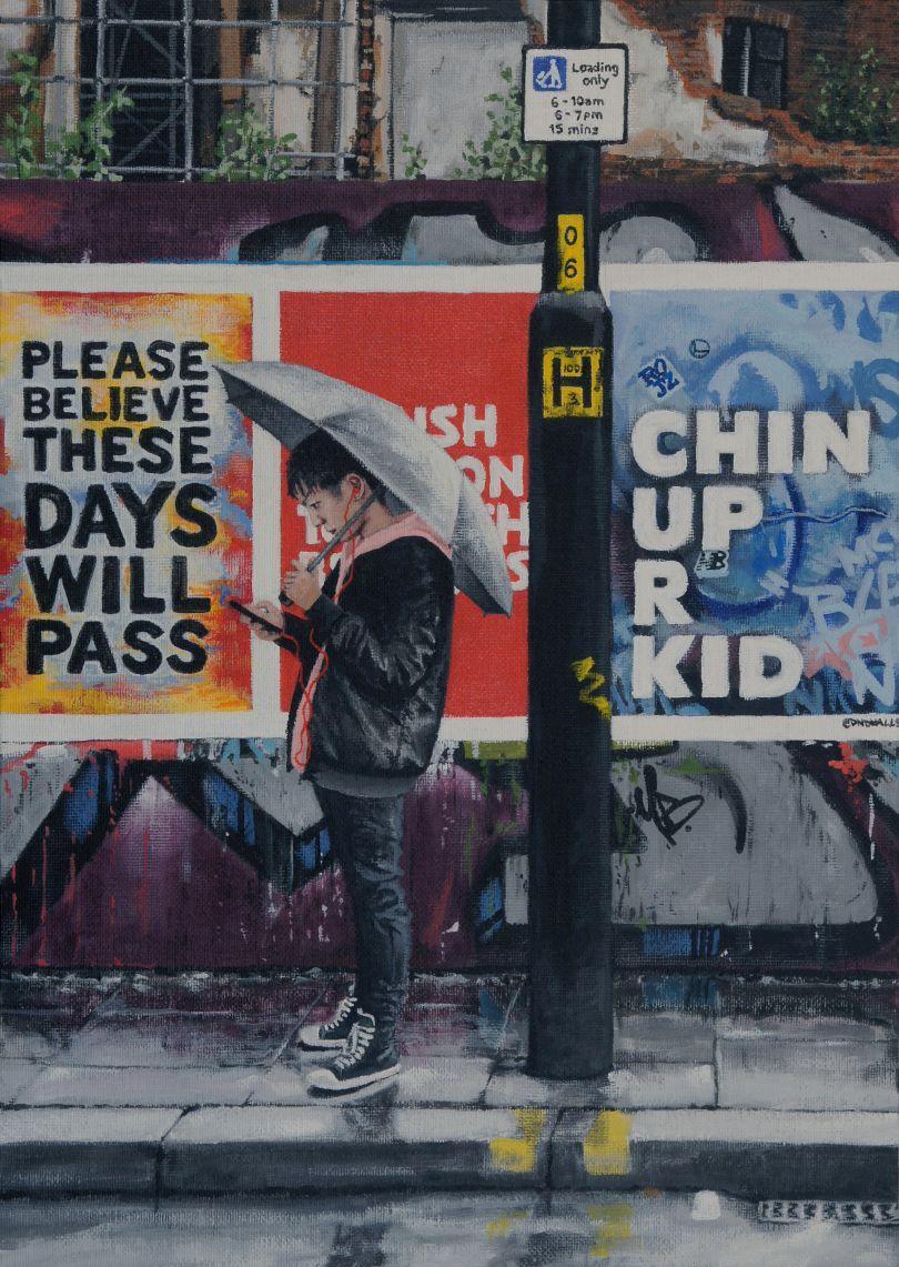 Chin Up R Kid, Northern Quarter, 2020 © Peter Davis