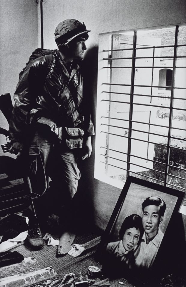 The Battle for the City of Hue, South Vietnam, US Marine Inside Civilian House 1968. All images courtesy of Tate Britain. © Don McCullin