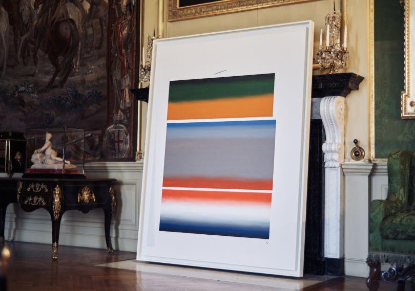 8 , 2012. U.S. government document SOFTER: Jenny Holzer at Blenheim Palace , Blenheim Palace, Woodstock, UK, 2017 © 2017 Jenny Holzer, member Artists Rights Society (ARS), NY Photo: Edd Horder