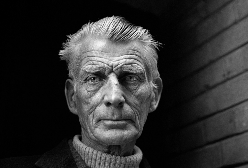 Samuel Beckett, 1976 © Jane Bown Estate. This famous portrait of playwright Samuel Beckett was captured in an alleyway at the back entrance of the Royal Court Theatre, where he was apprehended by Jane as he tried to escape her lens. He reluctantly allowed her to expose three frames; she managed five before he strode off. The middle one is, arguably, the most iconic image of the writer.
