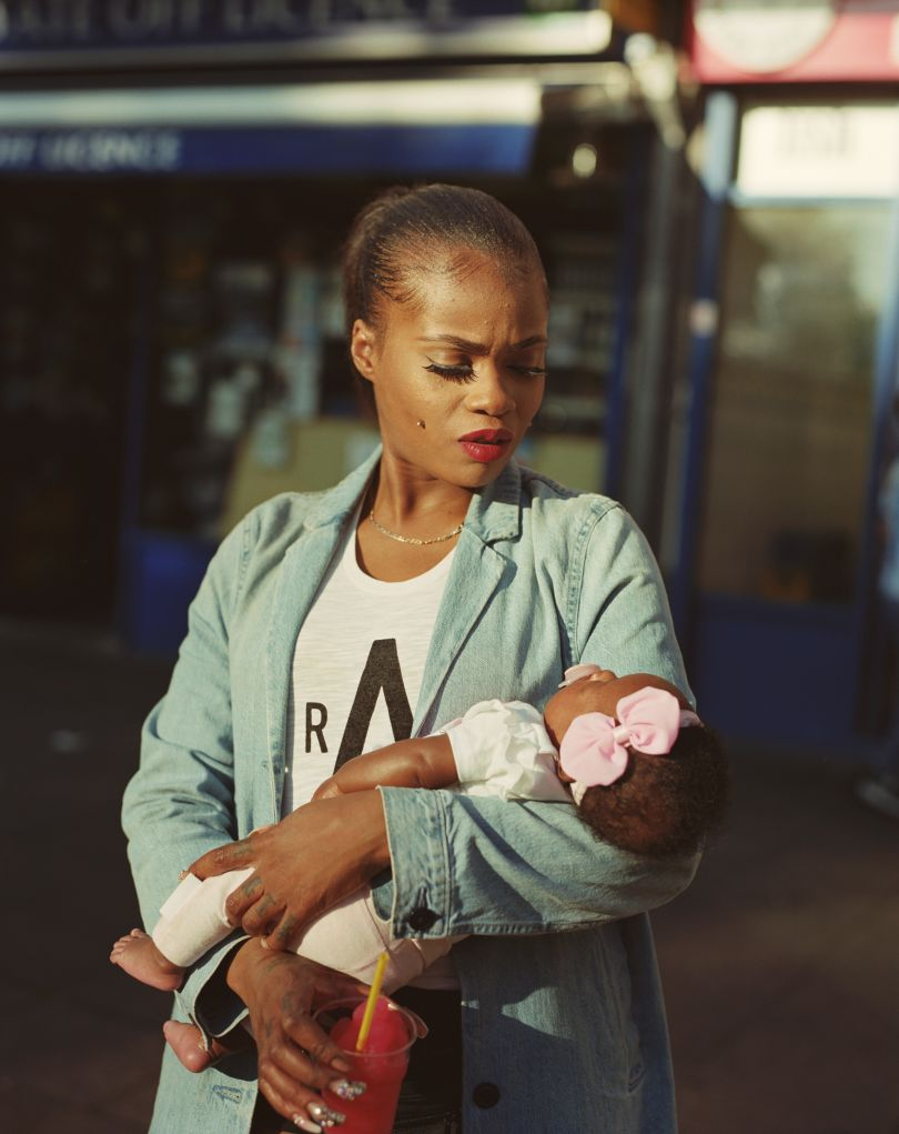 Cybil McAddy with daughter Lulu from the series Clapton Blossom by Enda Bowe 2018 © Enda Bowe