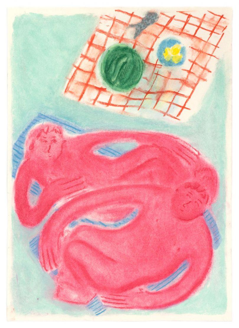 Coline Marotta, Untitled 8, 2019. Soft pastel on paper