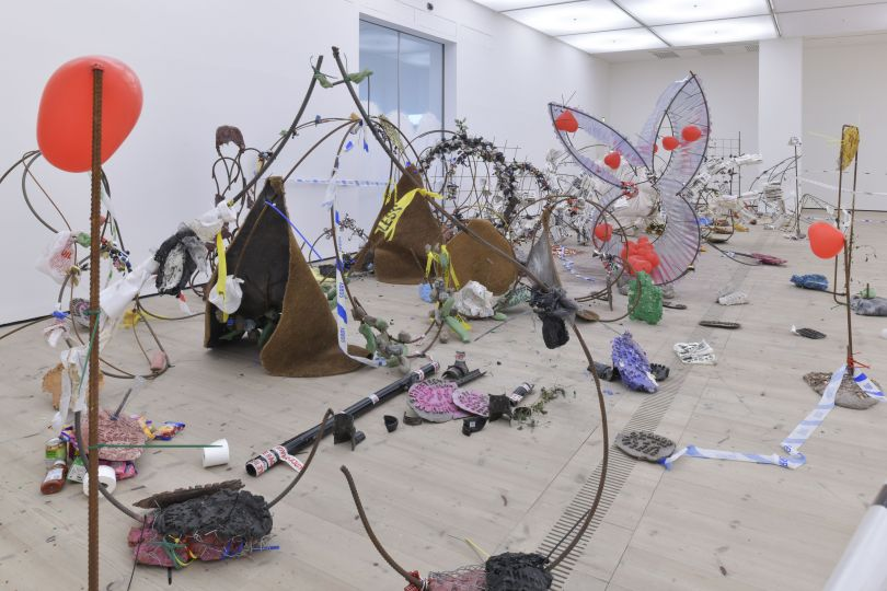 Michael Dean, Having you on, 2018 (installation view), BALTIC Centre for Contemporary Art, Gateshead. Photo: © 2018 Jonty Wilde and BALTIC. Courtesy the artist, Herald St, London and Mendes Wood DM, Sao Paulo
