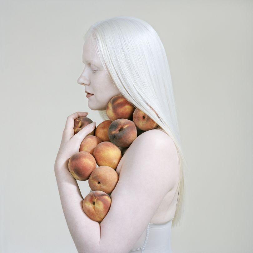 Bruised Peaches, 2018 pigment print 100 x 100 cm edition of 8 + 2AP $6,000 unframed 120 x 120 cm edition 4 + 2AP $8,000 unframed. © Petrina Hicks