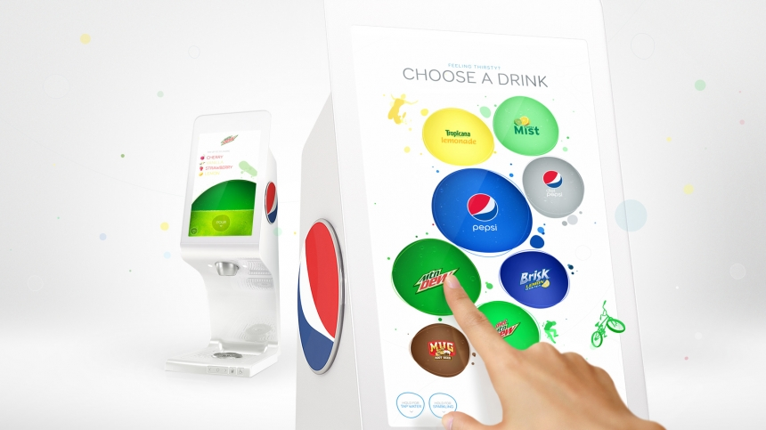Pepsi Spire digital soda fountain