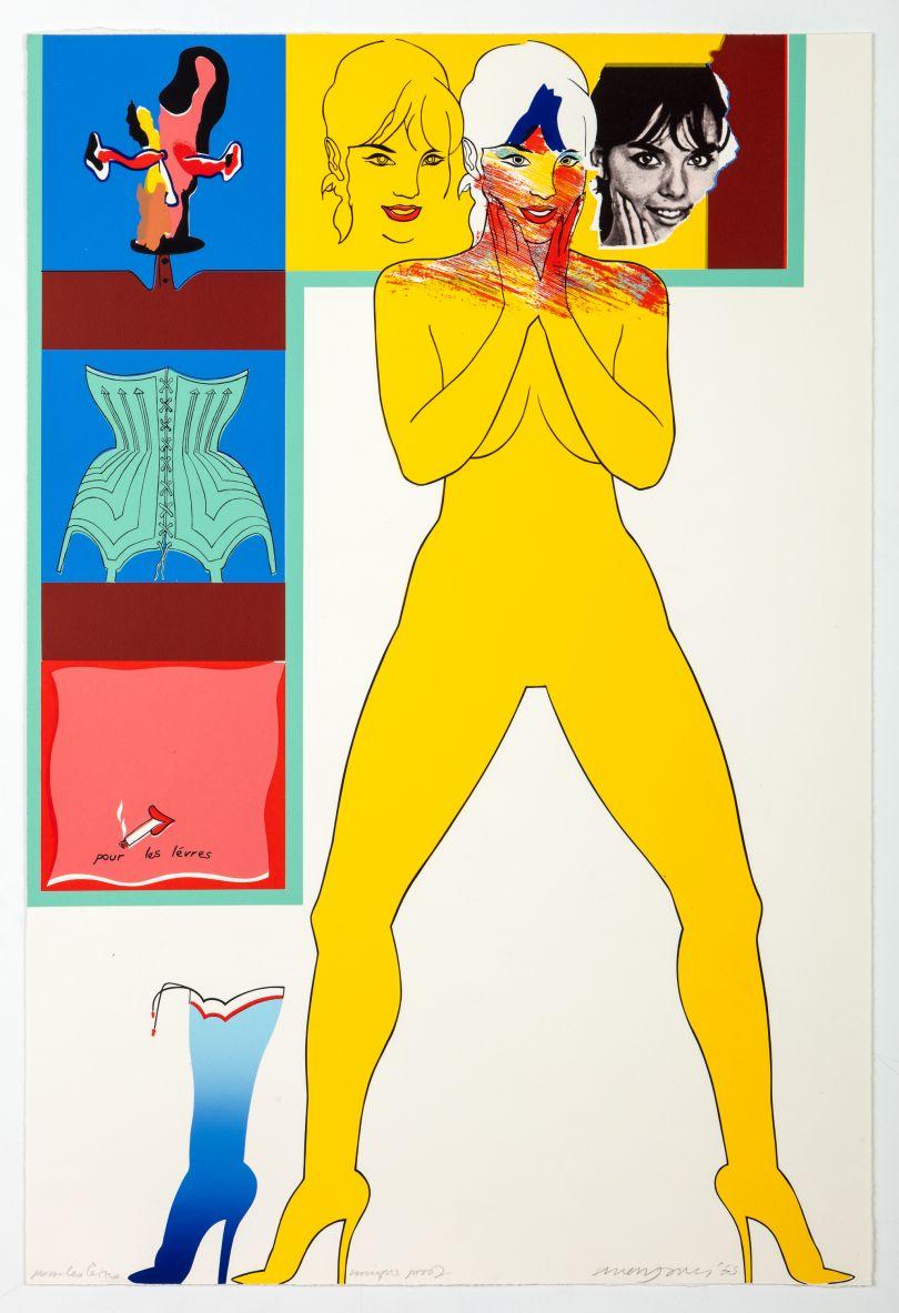 Allen Jones Pour les Levres, 1965 lithograph 76.5 x 59 cm Courtesy Marlborough Fine Art