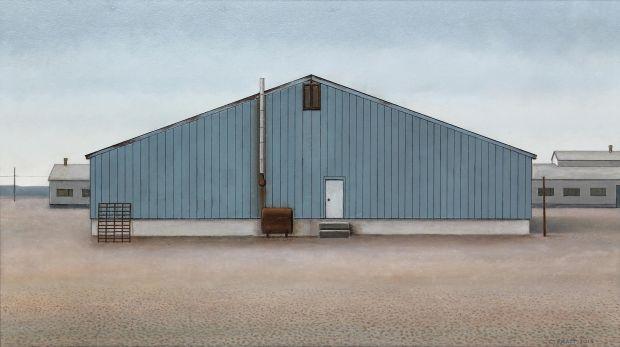 A Building at Buchans (Copper, Zinc, Lead; Silver and Gold), 2015 | Christopher Pratt