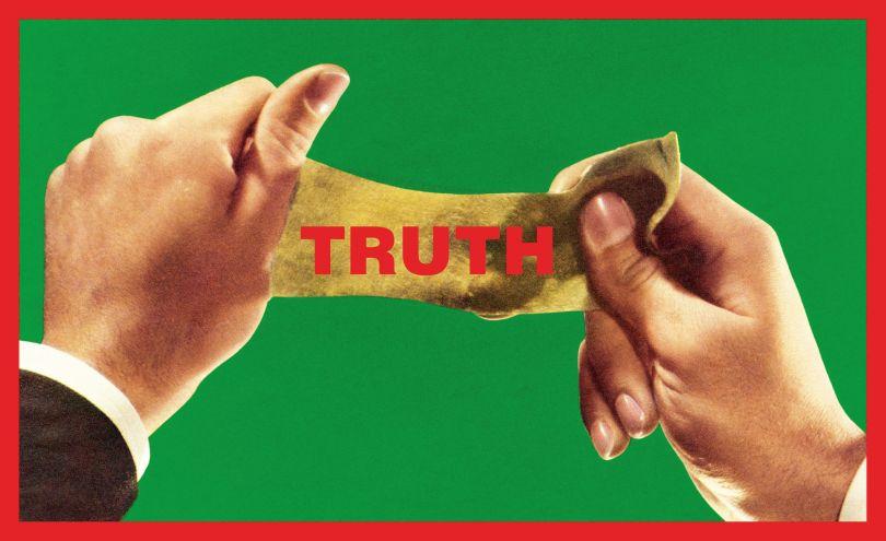 Barbara Kruger, Untitled (Truth), 2013, digital print on vinyl, 70 ¼ × 115 in. (178.6 × 292.1 cm), Margaret and Daniel S. Loeb, New York, © Barbara Kruger. digital image courtesy of the artist