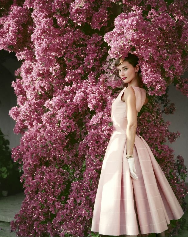 Audrey Hepburn photographed wearing Givenchy for Glamour magazine in June, 1955. The photoshoot took place in Rome, Italy. Audrey Hepburn, 1955, Norman Parkinson © Norman Parkinson / Iconic Images