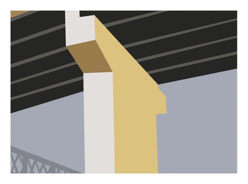 Allan D'Arcangelo Rail & Bridge, 1977
