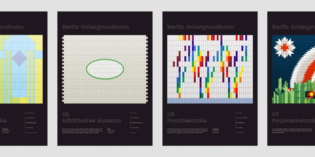 Design Len Berlin federico leggio pays tribute to berlin s u bahn with graphic poster