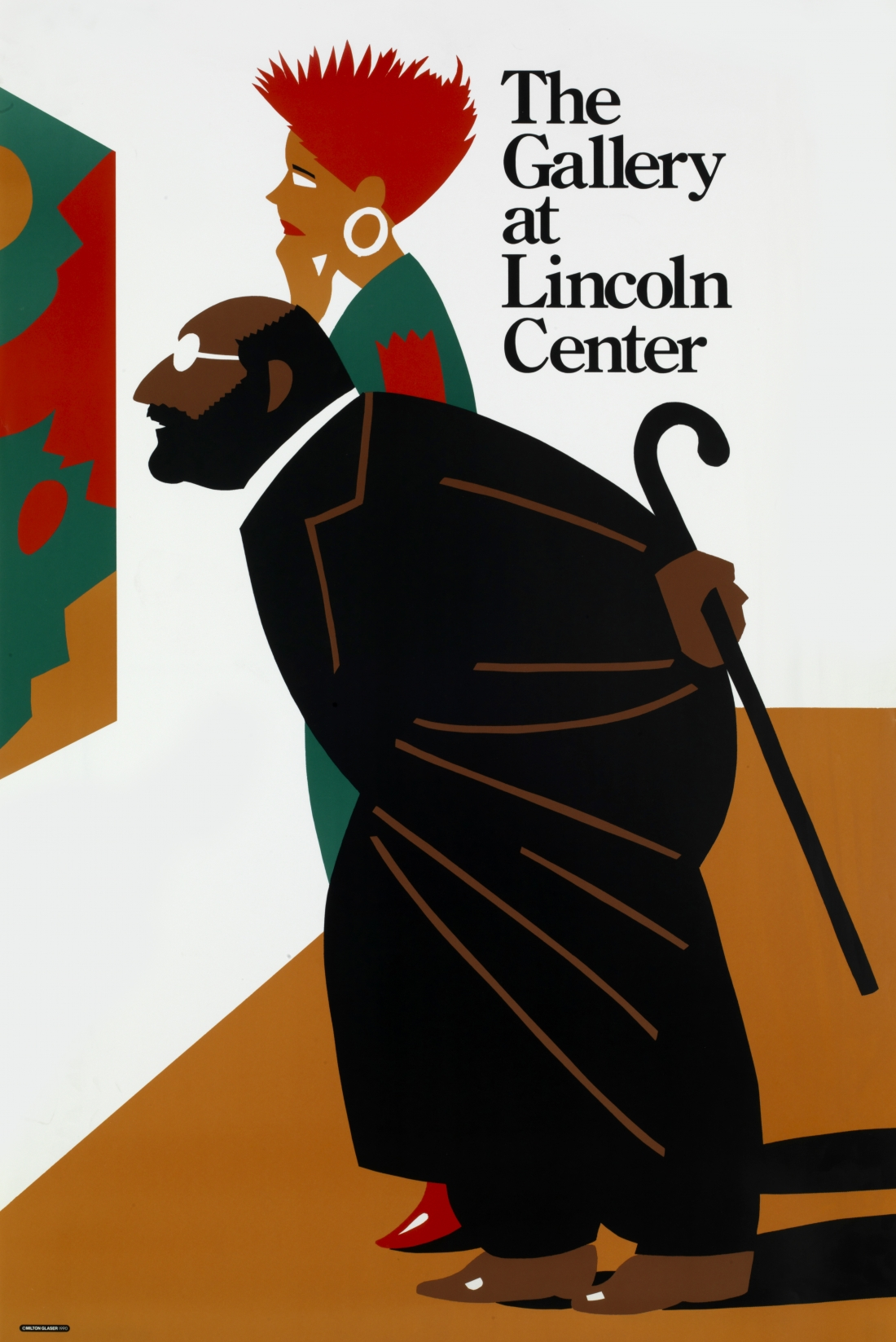 """The Gallery at Lincoln Center 1990. 4-color offset lithography, 36 x 24"""" Client: Lincoln Center for the Performing Arts"""