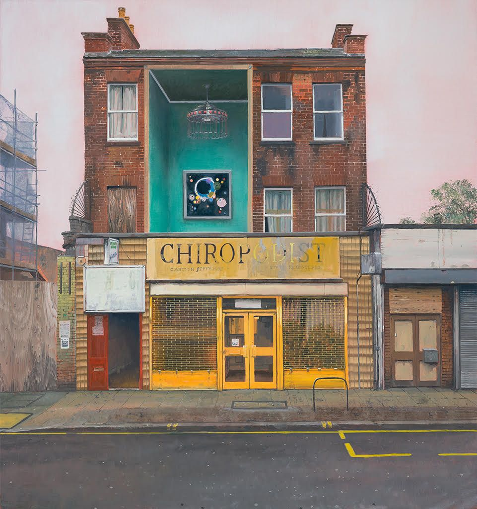 Andrew McIntosh's paintings of derelict buildings in South East London with surreal interiors