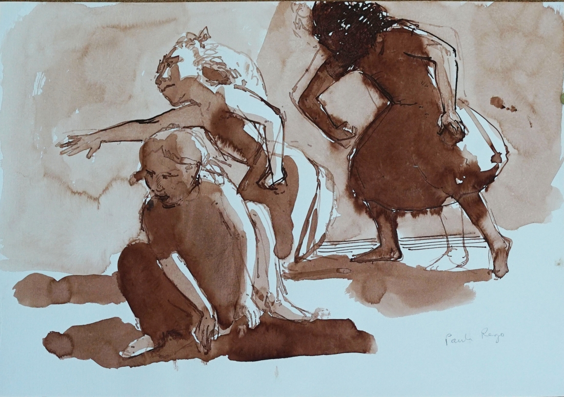 Paula Rego, Drawing of Three Girls, 1987, Private Collection © Paula Rego, courtesy Marlborough Fine Art