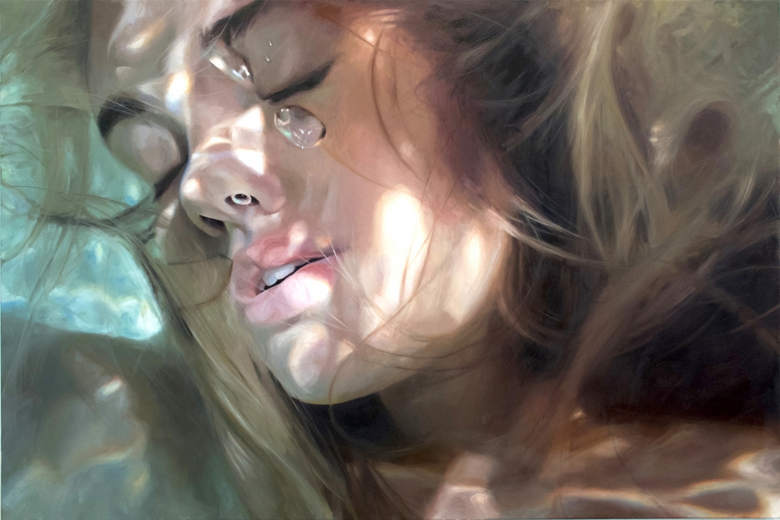 In Her Series Aqua American Artist Reisha Perlmutter Paints The Most Hyperrealistic Images Of Beautiful Bathing Women With Their Heads Underwater