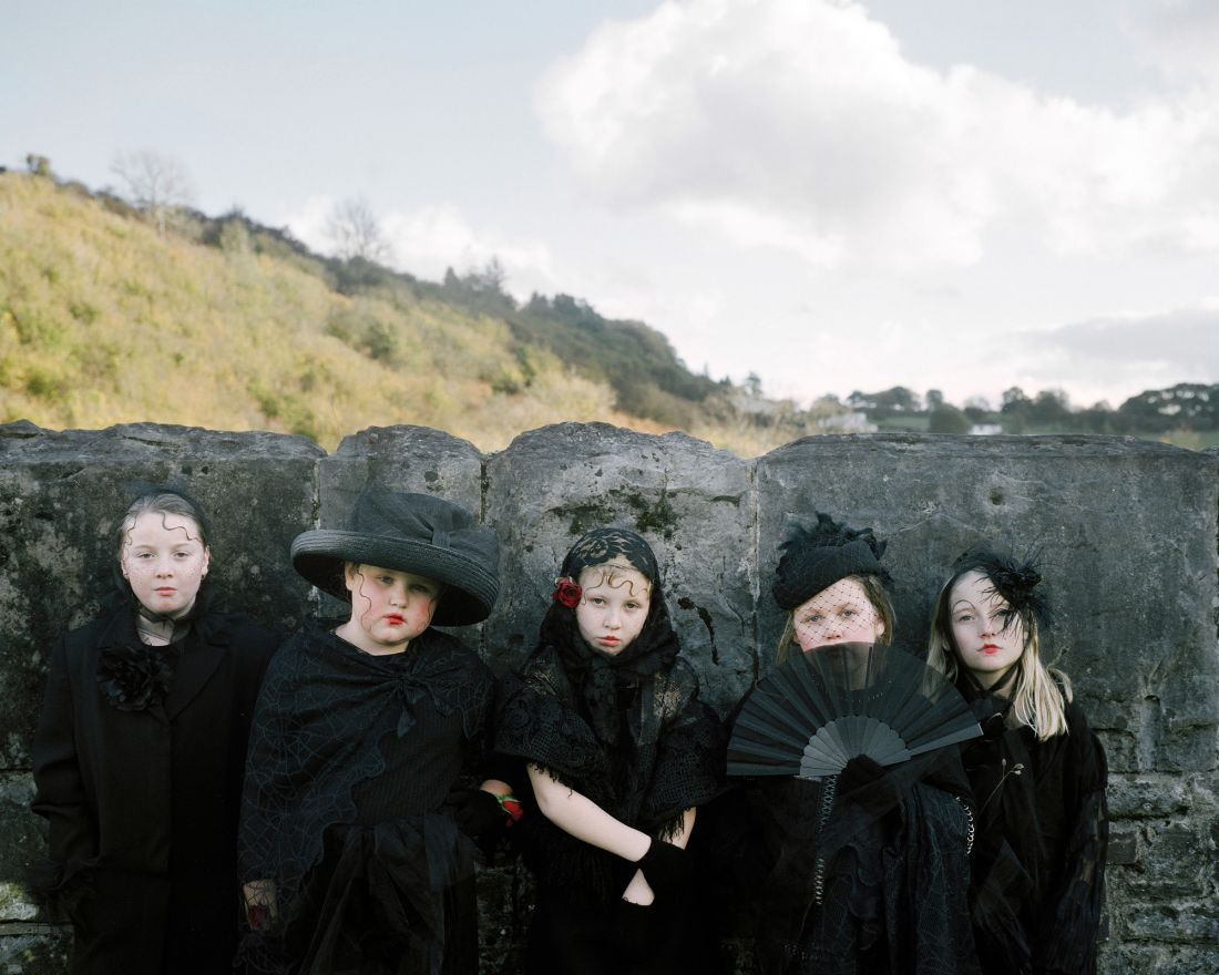 Photographs of children in costume, captured against the backdrop of post-Industrial South Wales Valleys